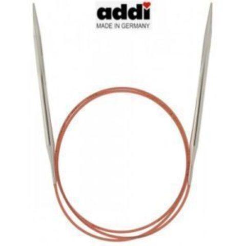 Спицы Addi круговые с удлиненным кончиком для тонкой пряжи 80 см, 6 мм