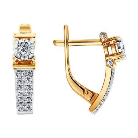 1020742 - Серьги из золота с бриллиантами