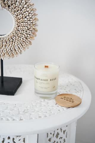 Свеча CHAMPAGNE ROSÉ 225 мл, деревянный фитиль