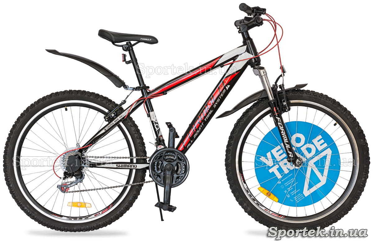 Городской велосипед Formula Nevada черно-красно-белый