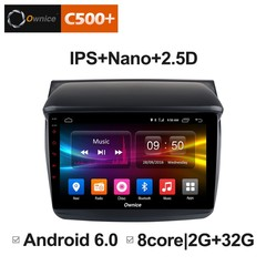 Штатная магнитола на Android 6.0 для Mitsubishi L200 06-14 Ownice C500+ S9635P