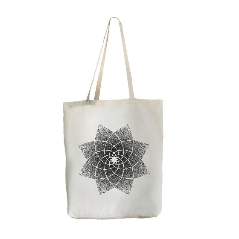Экосумка с карманом Big-bag Лотос, 46х41 см