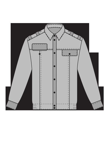 Рубашка с длинным рукавом для военнослужащих