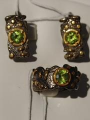 Сумба (кольцо + серьги из серебра)