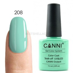 Canni, Гель-лак № 208, 7,3 мл