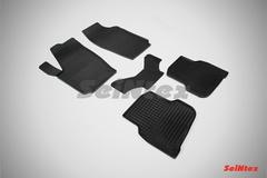 """Резиновые коврики """"Сетка"""" для Volkswagen Polo Sedan (2010-2015)"""