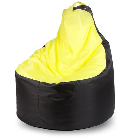Внешний чехол Кресло-мешок комфорт  145x90x90, Оксфорд Черный и желтый