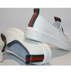 Кроссовки без шнурков New Malange M970 white.
