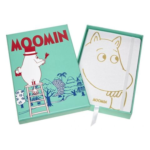 Блокнот Moleskine Limited Moomin LEMOOQP060CLT 130х210мм 192стр. линейка твердая обл белый