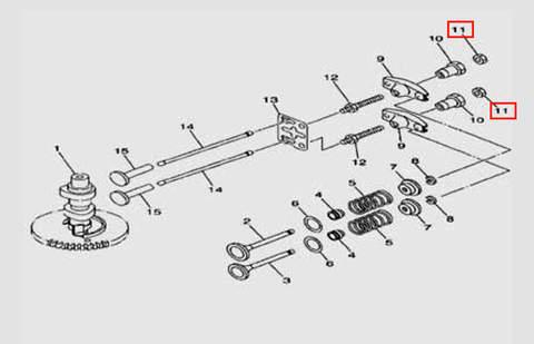Гайка шпильки M6×0.5 S=10 m=3.5 для лодочного мотора F5 Sea-PRO(5-11)