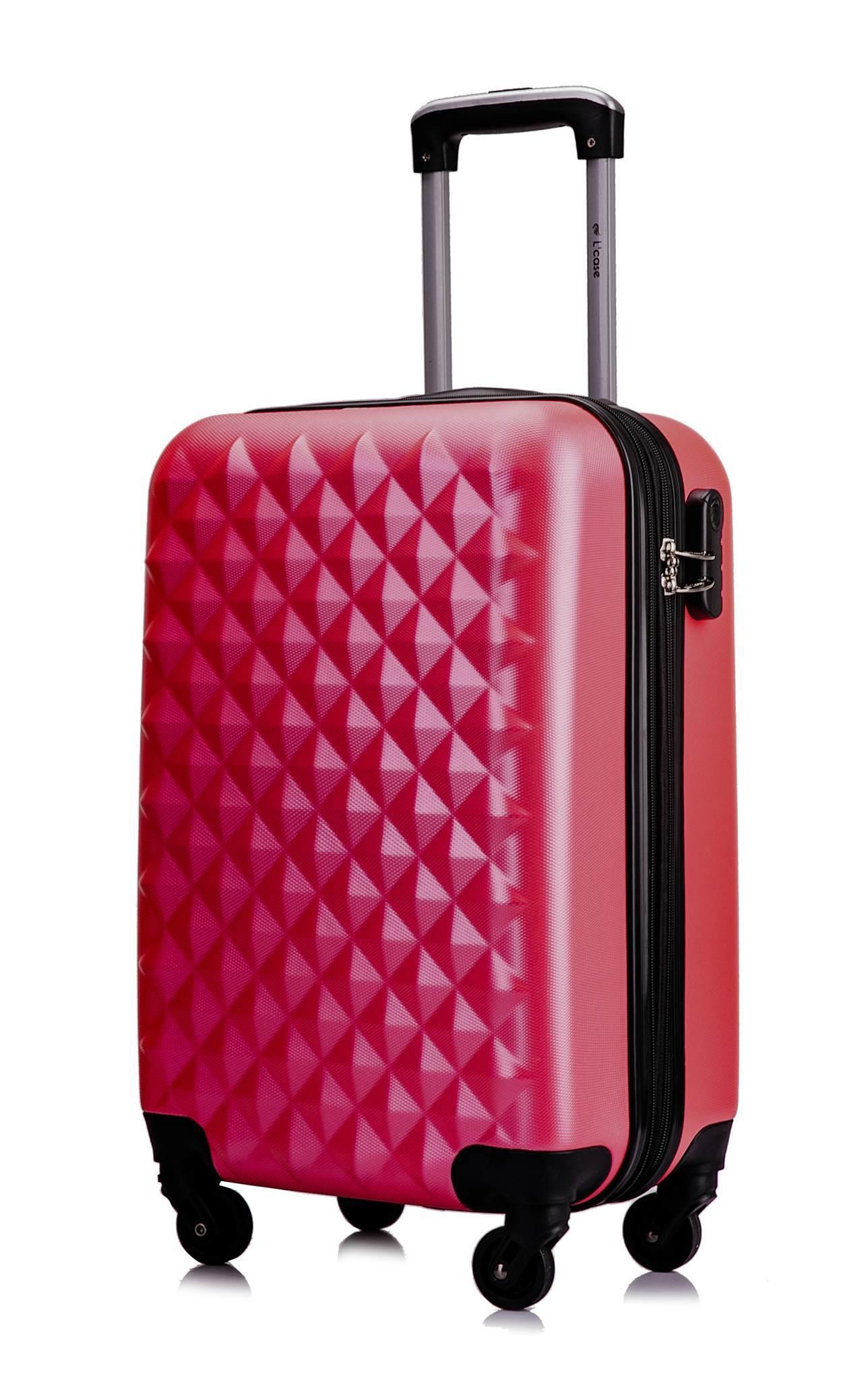 Чемодан с расширением L'case Phatthaya-20 Розовый ручная кладь (S)