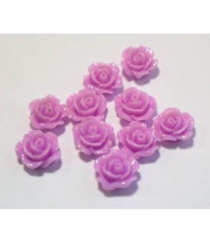 162 стразы цветочки фиолетовый 10 шт