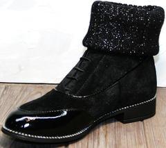 Женские стильные ботинки Kluchini 5161 k255 Black