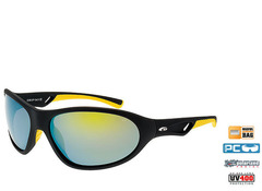 Спортивные поляризационные очки Goggle Egzo Black-Yellow