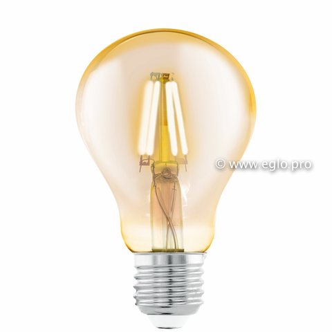 Лампа LED филаментная из стекла янтарного цвета Eglo AMBER LM-LED-E27 4W 320Lm 2200K A75 11555