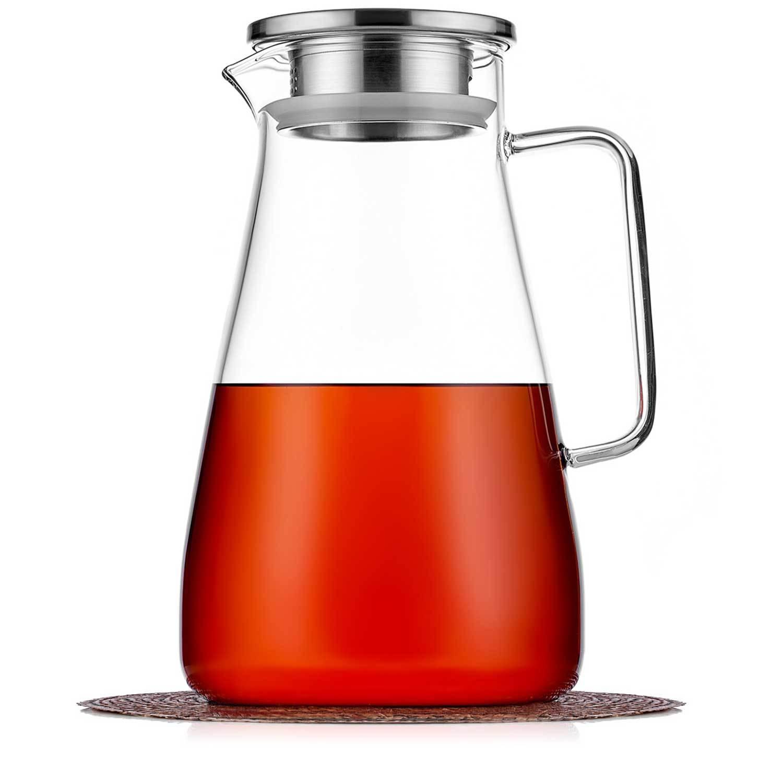Чайники заварочные стеклянные Кувшин 1,8 л с фильтром в крышке стеклянный для воды, сока и других напитков kuvshin-steklo-4-008-1800-teastar.jpg