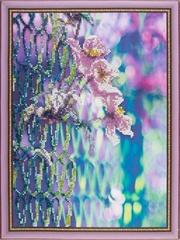 Нежные цветы- набор для вышивания бисером, VS002