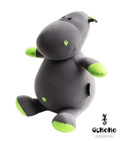 Подушка-игрушка антистресс «Бегемот Няша», зеленый 3