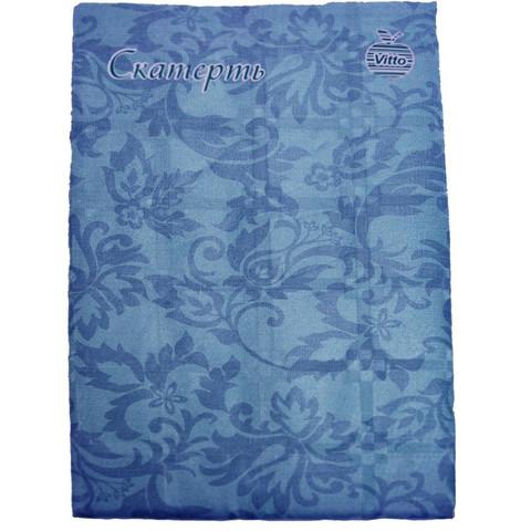 Скатерть одноразовая Vitto Prestige бумажная с полимерным покрытием 120x180 см синяя