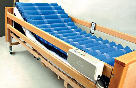 Размещение противопролежневой системы 418 EL-EASY AIR на кровати