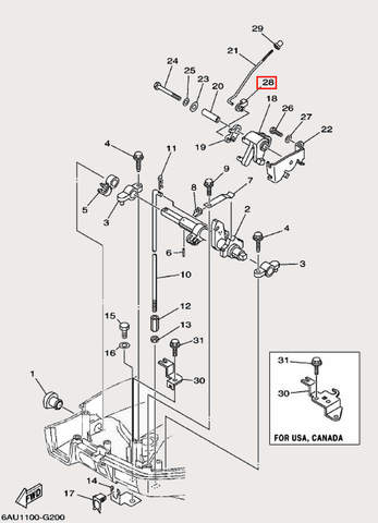Ползунок для лодочного мотора F9,9 Sea-PRO (19-28)