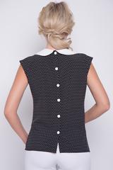 <p>Блузка из легкой, воздушной ткани сделает ваш образ притягательным и незабываемым. Закругленный воротник придает женственность. По спинке застежка на пуговицах. (Пояс в стоимость не входит).</p>