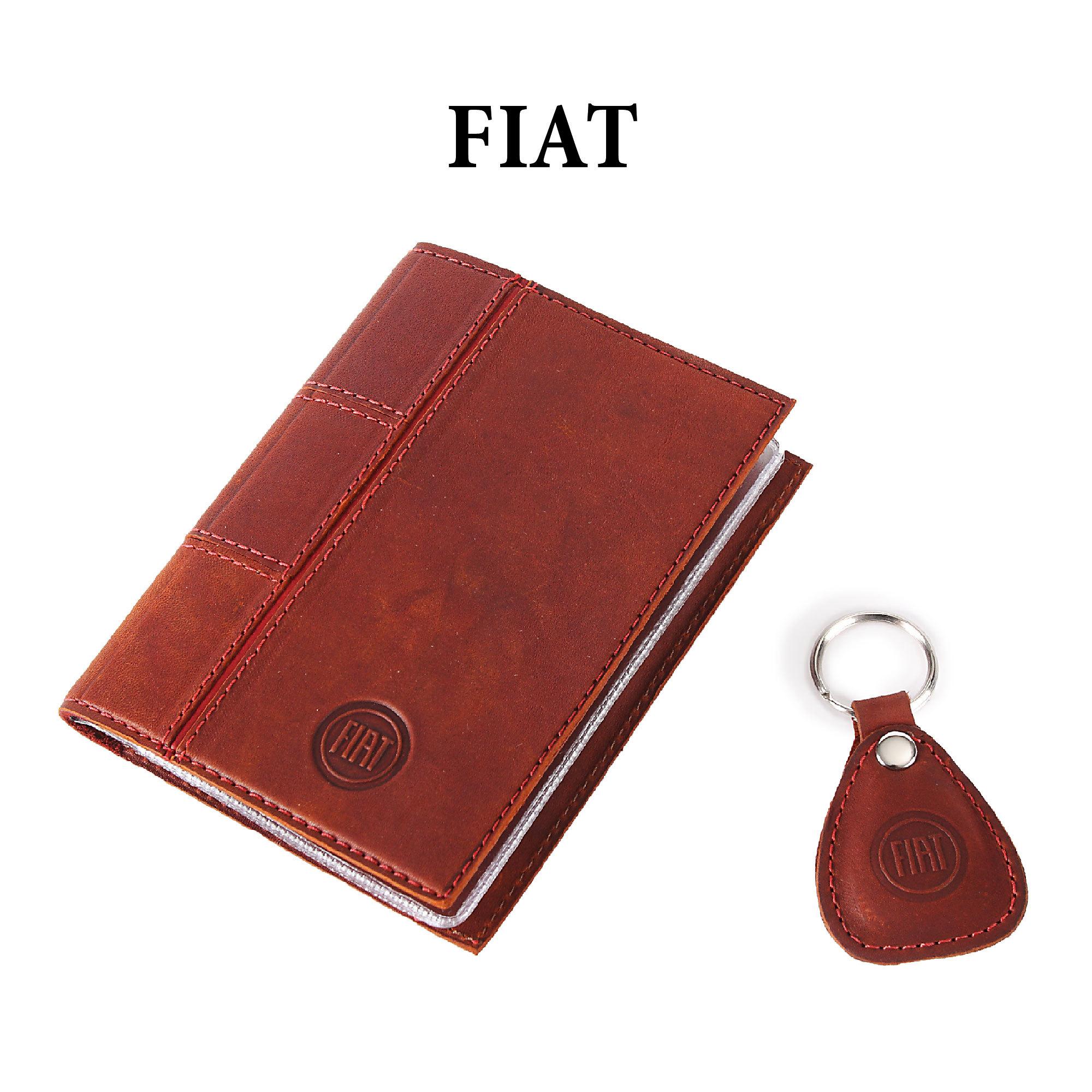 Обложка для водительского удостоверения с брелком «FIAT»