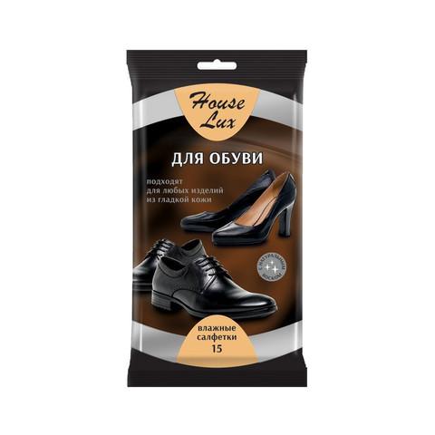 Салфетки влажныедля обуви House Lux №15 48735