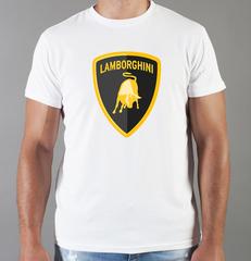 Футболка с принтом Ламборджини, Ламборгини (Lamborghini) белая 007