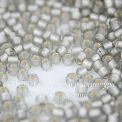 0029AF Бисер японский TOHO 11/0, матовый черный алмаз с внутренним серебрением