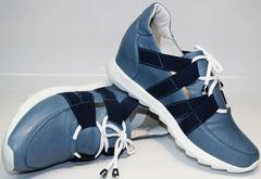 Женские туфли на танкетке Ledy West 1484 115 Blue.