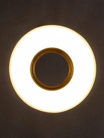 Светильник встраеваемый 8110-9W-GO Золото+Диодная подсветка