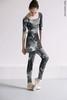 Set: 2 Sleeves leotard + leggings Zigsi + medium chiffon wrap skirt, stained in print