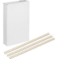Пружины для переплета металлические Promega office 7.9 мм золотистые (100 штук в упаковке)