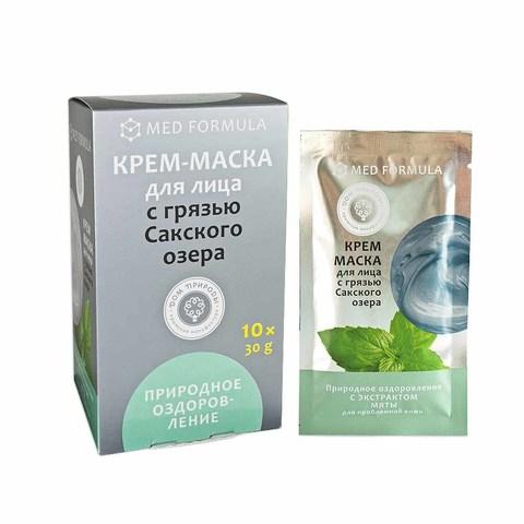 Крем-маска для проблемной кожи лица «Природное оздоровление» с экстрактом мяты