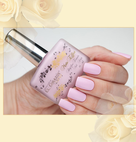 El Corazon Лак Matte Effect  т.118 бледно-розовый