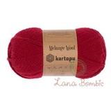 Пряжа Kartopu Melange Wool арт. 2117 красный