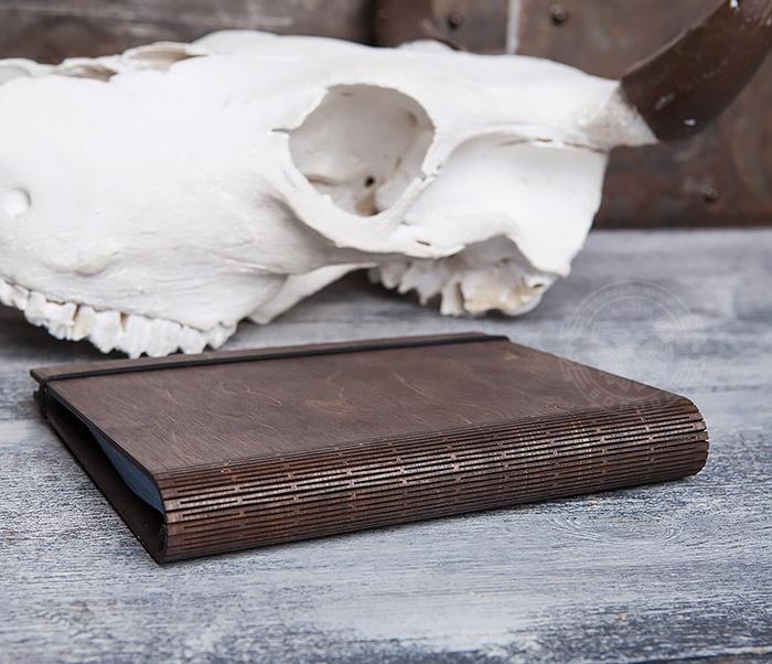 BC133-2 Оригинальный деревянный блокнот на кольцах фото 03