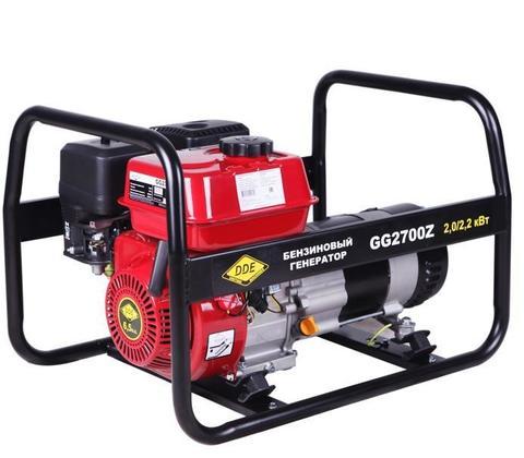 Генератор бензиновый DDE GG2700Z (1ф ном/макс. 2,0/2.2 кВт, DDE UP168, т/бак 3.6л, ручн/ст (GG2700Z)