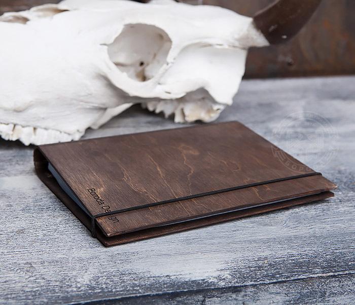 BC133-2 Оригинальный деревянный блокнот на кольцах фото 04