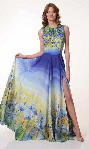 Вечернее платье Васильковое лето