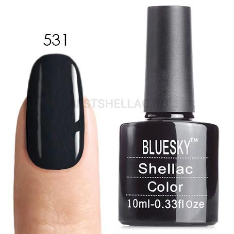 Bluesky Shellac 40501/80501 Гель-лак Bluesky № 40531/80531 Asphalt, 10 мл 531.jpg