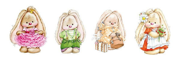 Водорастворимая бумага Кролики детки