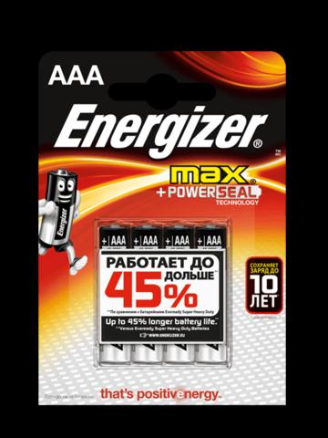 Батарейки Energizer LR03, AAA (6/72) BL