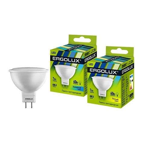 Лампа Ergolux LED-JCDR-7W-GU5,3-4K (холодный свет)