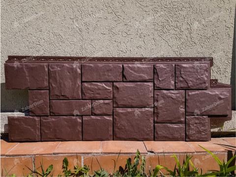 Фасадная панель Гранд Лайн Крупный камень Коричневый 1102,5х417,4 мм