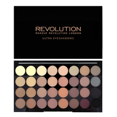 Набор из 32 оттенков теней Makeup Revolution 32 Eyeshadow Palette, Flawless Matte