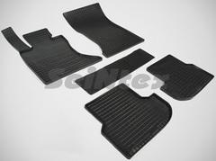 """Резиновые коврики """"Сетка"""" для BMW 5 4WD (2013-н.в.)"""