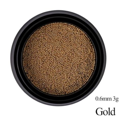 Бульонки металлические - золото 0,6 мм (3 гр)