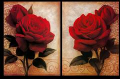 """Модульная картина """"Перламутровые розы"""""""